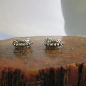 Sterling Southwestern Half Hoop Stud Earrings